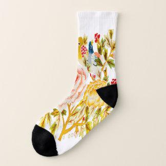 Flower bird embroidery 1