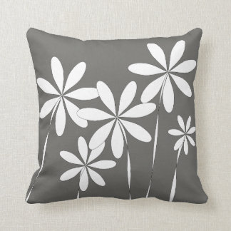 Flower Bliss on Charcoal Grey Cushion
