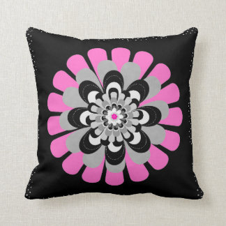 Flower Bloom Blush Throw Pillow