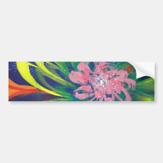 Flower blooming in the COOL sea of the universe Bumper Sticker