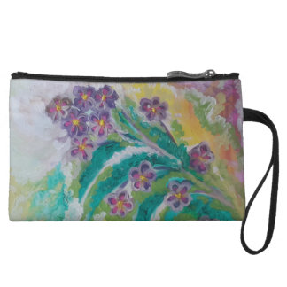 Flower blossom wristlet purse