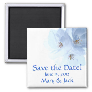 Flower Blossoms Save the Date Magnet