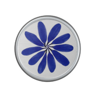 Flower bluetooth speaker blue