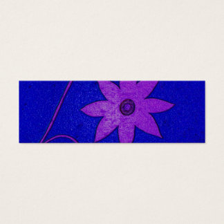 flower bookmark mini business card