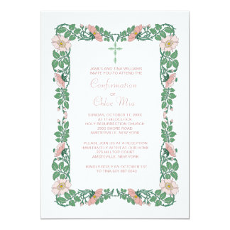 Flower Border Invitation