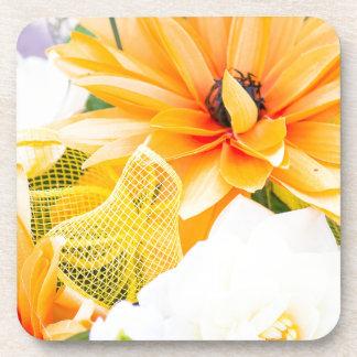 Flower bouquet drink coaster