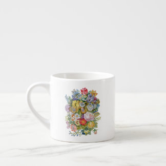Flower Bouquet Espresso Cup