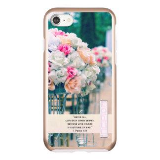 Flower Bouquet Love and Wedding Aisle Bible Verse Incipio DualPro Shine iPhone 8/7 Case