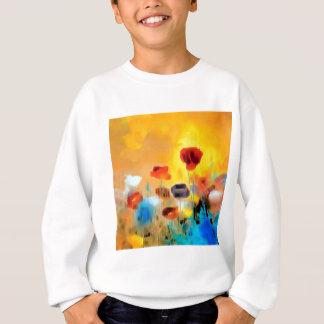 Flower Bouquet of Poppies Sweatshirt
