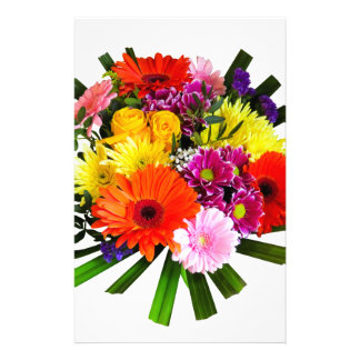 Flower Bouquet Personalized Stationery