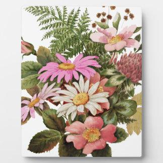 flower bouquet plaque