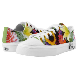 Flower Bouquet Printed Shoes