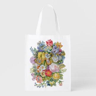 Flower Bouquet Reusable Grocery Bag