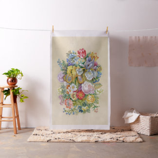 Flower Bouquet Tapestry Fabric