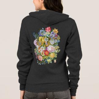 Flower Bouquet Zip Hoodie