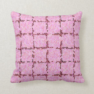 Flower box pattern, shades of pink throw pillow