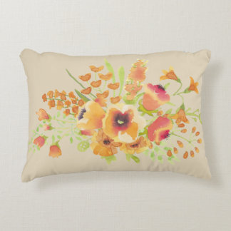 "flower Brushed Polyester Accent Pillow 16"" x 12"""