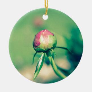 flower bud crossprocessbulb ceramic ornament