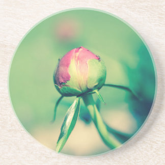 flower bud crossprocessbulb coaster