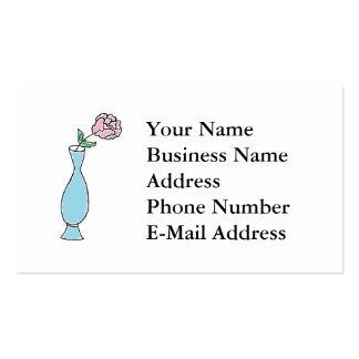 Flower Bud Vase Drawing Business Card Template