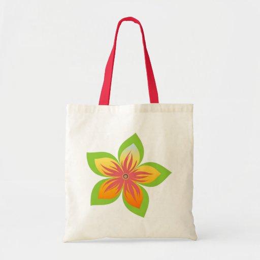 Flower Budget Tote Canvas Bag
