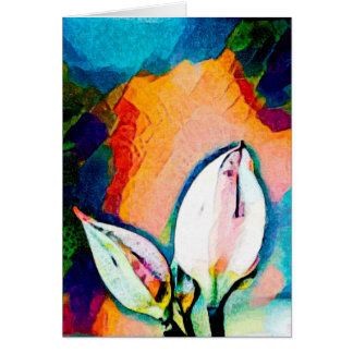 Flower Buds - Art Greeting Card