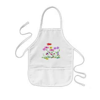 Flower bunch kids apron