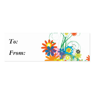 flower bunches of swirls vector business cards