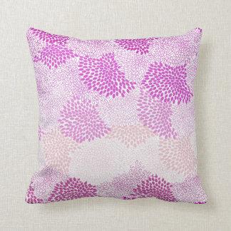 """""""Flower Burst"""" Pink Pillow Cushions"""