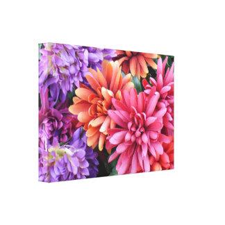 Flower Bursts Stretched Canvas Prints