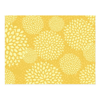 Flower Bursts on Yellow Postcard