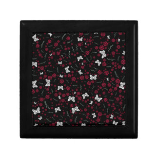 Flower Butterfly Small Square Gift Box