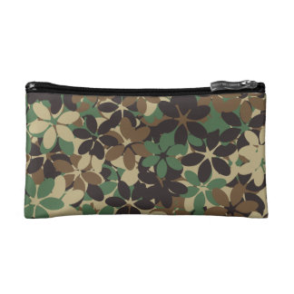 Flower camouflage makeup bag