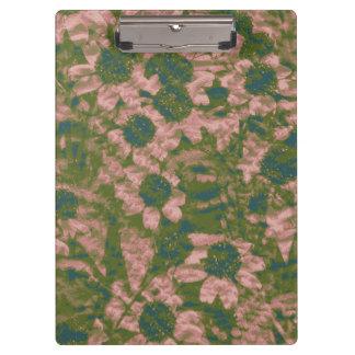 Flower camouflage pattern clipboard