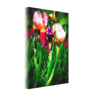 Flower canvas wall hanging gallery wrapped canvas