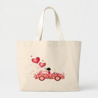 Flower Car Jumbo Tote Bag