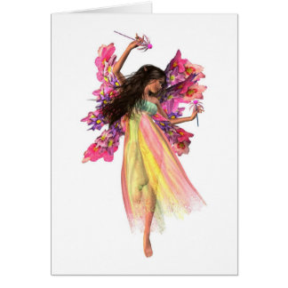 Flower Carnival Fairy Card