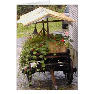 Flower Cart Card
