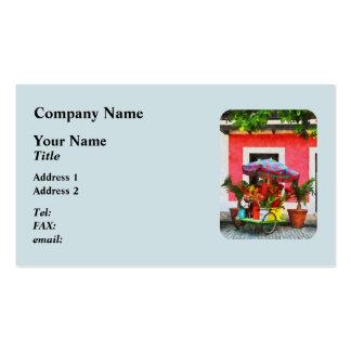 Flower Cart San Juan Puerto Rico Pack Of Standard Business Cards