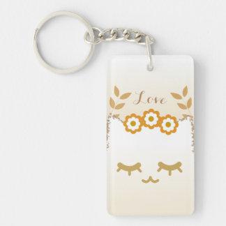 Flower Cat acrylic keychain