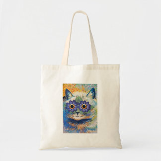 Flower Cat by Louis Wain Bags
