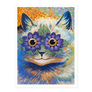 Flower Cat by Louis Wain Postcard
