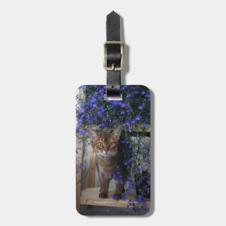 Flower Cat Luggage Tag
