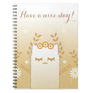 Flower Cat notebook