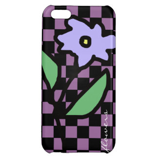 flower checkered pattern case for iPhone 5C