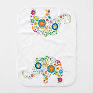 Flower Child Elephant - Burp Cloth