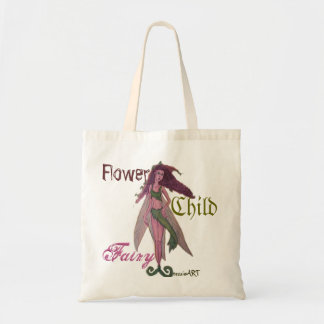 Flower Child Fairy Budget Tote Bag tessieART Canvas Bag