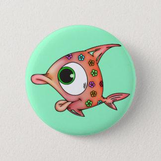 Flower Child Fish 6 Cm Round Badge