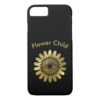 Flower Child Gold Floral Design iPhone 8/7 Case