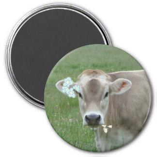 Flower Child Jersey Cow Magnet